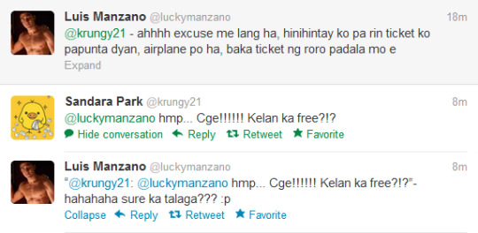 Twitter: Dara Finally Agrees to Luis Manzano's Request? |