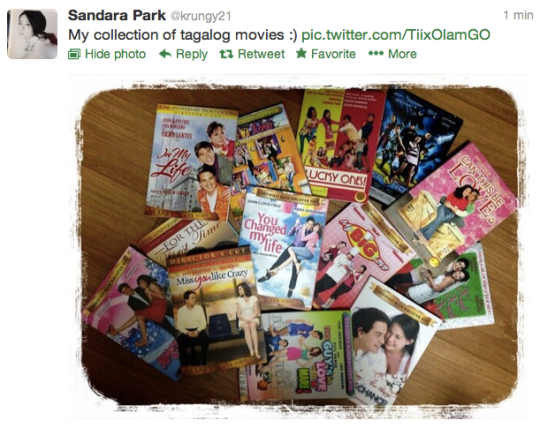 Here's a photo of the DVD's and CD's that we got Dara for her