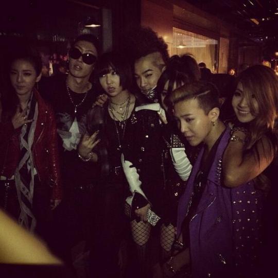 Photos: 130529 2NE1, G-Dragon, Taeyang, Yanggaeng at Chrome Hearts ...