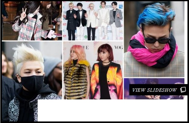 8 Male Idols That Pull Off Crazy Hair Blue Edition  allkpop