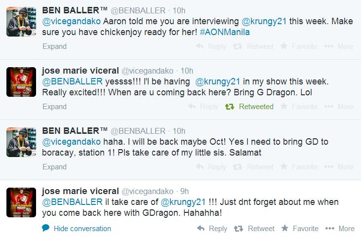 "Twitter: Vice Ganda (@vicegandako) and @BENBALLER – ""Yes!!!! I"