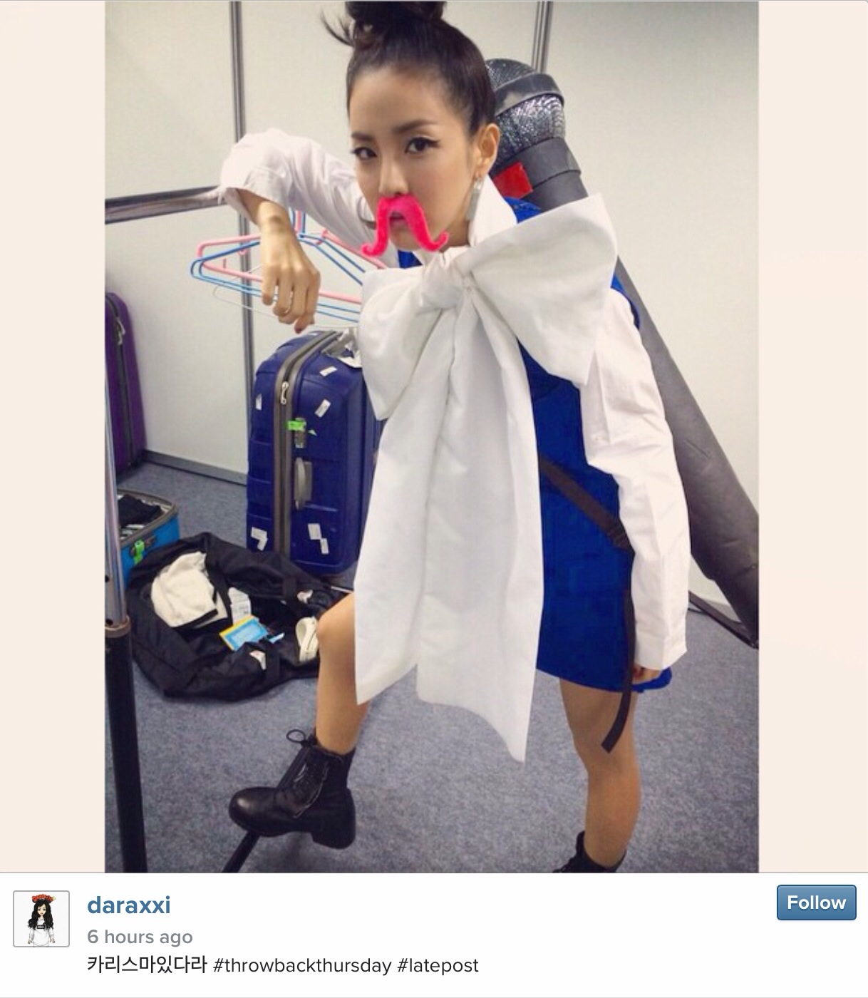 "Instagram:141106 ""Charisma"" Dara shares a Throwback ..."